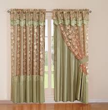 curtains cawiatva amazing lace curtains with attached valance