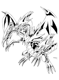 84 coloring page yu gi oh white dragon 1 coloring page