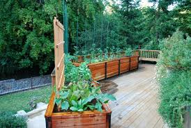 elevated planter box deck traditional with balcony farming
