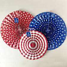 hanging paper fans patriotic mixed media collage fan decorations diy using pre made