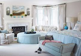 Powder Blue Curtains Decor Beautiful Rooms In Blue And White Traditional Home