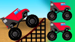 video de monster truck trucos de monster truck niños camiones video educativo learn