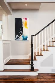 atlanta painting stair treads staircase craftsman with bannister