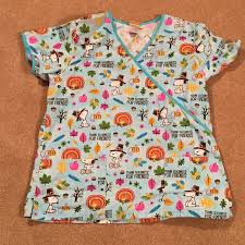 64 other peanuts thanksgiving scrub top from s