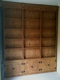 Wall Bookcase With Doors Made Pine Furniture Any Design And Finish We Can Make It