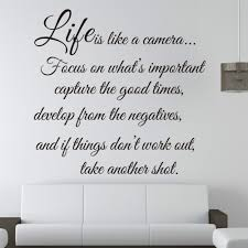details about life is like a cameia life quote wall sticker vinyl details about life is like a cameia life quote wall sticker vinyl decal home room decor 8205 remonable wall stickers quote in wall stickers from home