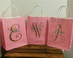 bridal shower gift bags personalized gift bags etsy