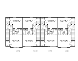 floor plans for multi family homes part 46 t 407 triplex house