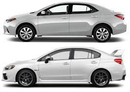 toyota corolla similar cars does the 2015 wrx profile look similar to the toyota corolla