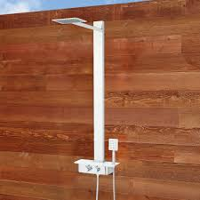 Teak Outdoor Shower Enclosure by Broadus Thermostatic Stainless Steel Outdoor Shower Panel With