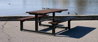 knock down picnic table plans mlpt210 series cluster seating picnic table maglin site furniture