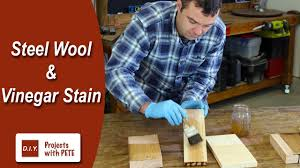 is it safe to use vinegar on wood cabinets how to make steel wool and vinegar stain