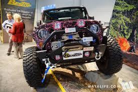 pink jeep 2016 sema bestop project pink jeep jk wrangler