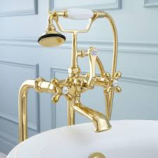 Floor Mount Tub Faucets Freestanding Telephone Tub Faucet Supplies Valves And Drain