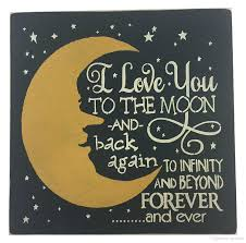 wall plaque chalkboard plaque u0026 sign i love you to the moon and