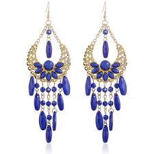 Aegean Chandelier Earrings Turquoise Blue Blue Chandelier Earrings Polyvore