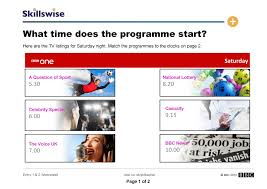 what time does the programme start