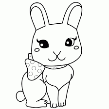 cute bunny coloring page for kids bunny rabbit coloring pages free