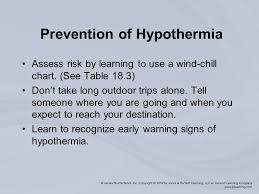 Wind Chill Table Chapter 18 Thermal Injuries Thermal Stress Temperature Related
