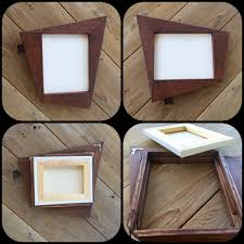 custom retro style funky wood frame for canvas art or mirror by custom made retro style funky wood frame for canvas art or mirror