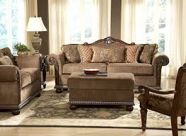 Living Room Set For Sale Cheap Living Room Gorgeous Living Room Design With Cozy Brown Padded Sofa And Cushions Also Wooden Armchair Complete With Rectangular Padded Table And Brown Motif