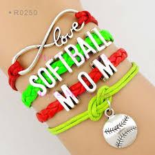 infinity love leather bracelet images Infinity love softball mom bracelet baseball charm wrap bracelets jpg