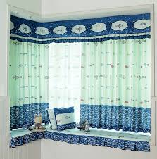 Valance Curtains For Bedroom Cute And Fun Polyester Nautical Fish Pattern Curtain For Boys