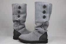 s ugg cardy boots ugg cardy grey knit sheepskin button
