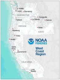 Roseburg Oregon Map Noaa Fisheries Announces New West Coast Region U2014northwest Region