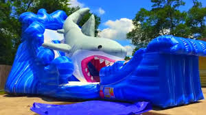 party rentals houston shark water slide houston sky high party rentals