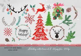 christmas clipart watercolor clipart christmas christmas