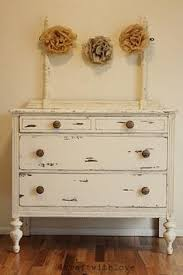 distressed black and white tall dresser for the home