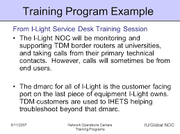 Service Desk Courses Network Operations Centers Training Programs Ppt Online