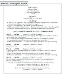 Chronological Resume Builder Sample Of A Chronological Resume Strengths And Weaknesses Of This