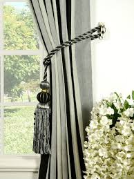 petrel vertical stripe back tab chenille curtains