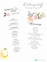 wedding programs exle wedding program excel wedding ideas 2018