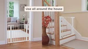 Baby Safety Gates For Stairs Safety 1st Easy Install Auto Close Walk Thru Gate Ga099 Youtube