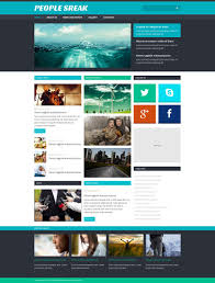website template 48539 people sreak news custom website template