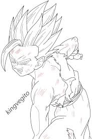 gohan kamehameha coloring pages sketch pinterest
