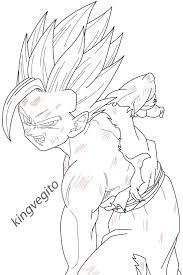 gohan kamehameha coloring pages sketch dragon ball