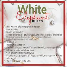 White Christmas Gift Ideas by White Elephant Gift Exchange Rules And Printables Sunshine And