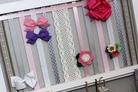 Shabby Chic Nursery Curtains by Hair Bow Holder Headband And Bow Organizer Baby Shower Gift