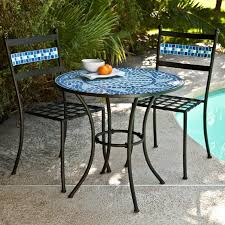 B Q Bistro Table And Chairs Fire Pits Design Amazing Fire Pit Mosaic Blooma Silene Metal