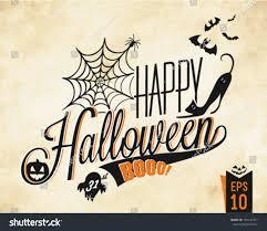 happy halloween vector background vintage style stock vector