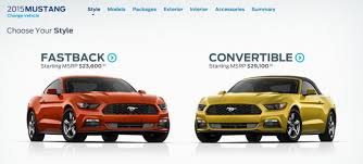build ford mustang 2015 build your 2015 ford mustang right now