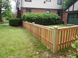 8 cedar 1x4 spaced picket flat top fencing pinterest spaces