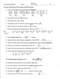 periodic table of elements test physical science chapter 5 the periodic table test answers