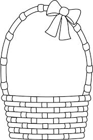 blank easter basket clipart