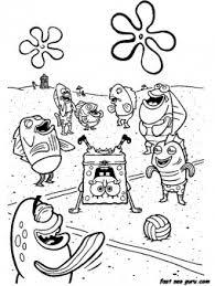 printable cartoon network spongebob coloring sheets printable