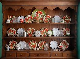 Decorating A Hutch And Decorating With China For The Seasons And Holidays